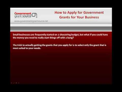 How To Apply For A Government  Small Business Grant