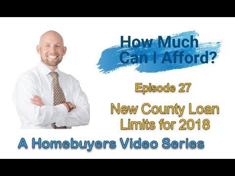 New 2018 County Loan Limits