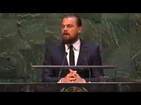 Leonardo DiCaprio speaks on Climate Change to the UN