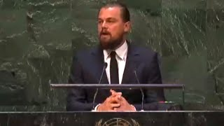Leonardo DiCaprio's Powerful Climate Summit Speech
