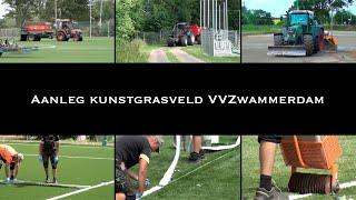 Aanleg Kunstgrasveld VVZwammerdam