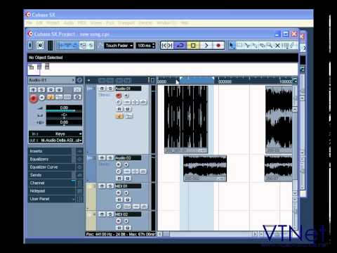 08 Cubase Video Tutorial – How to work with the Project Window – part 1 of 5