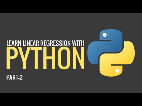 Learn Linear Regression with Python | Part 2 | Machine learning | Eduonix