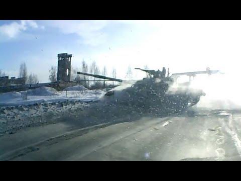 Morgens auf Russlands Straßen