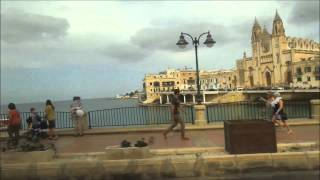 Sliema Malta  city photos : Sliema - St. Julian's seaside bus ride Malta 2014
