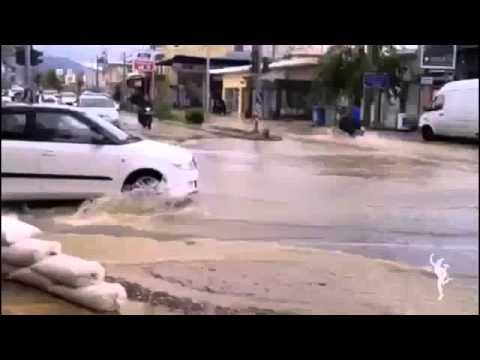 Ιδιαίτερα προβλήματα από την κακοκαιρία στα σύνορα Μενιδίου – Καματερού