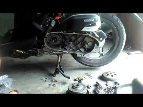 Mengatasi Tarikan berat &bergetar pada motor matic