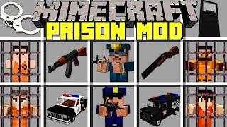 Minecraft PRISON MOD l BECOME A COP OR ESCAPE PRISON! l Modded Mini-Game