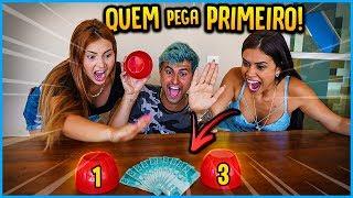 QUEM PEGAR 100 R$ PRIMEIRO GANHA O DINHEIRO!! [ REZENDE EVIL ]