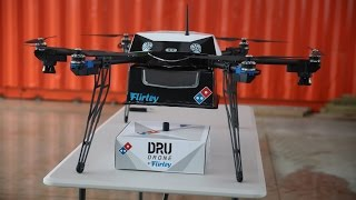 DOMINO'S HAS CREATED A FLYING PIZZA DELIVERY DRONE