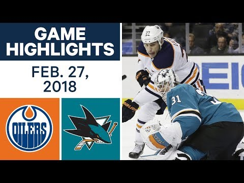 Video: NHL Game Highlights |Oilers vs. Sharks - Feb. 27, 2018