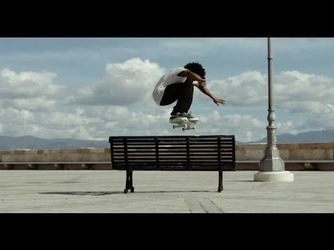 skating - Skate over to http://win.gs/1kIeApj for more action! Recently signed skateboarder Korahn Gayle leaves the rain soaked streets of the UK to head to the bright...
