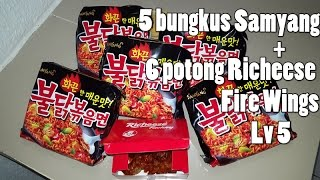 Video LIDAH KEBAKAR !! 5 BUNGKUS SAMYANG + 6 PICS RICHEES FIRE WING Lvl 5 MP3, 3GP, MP4, WEBM, AVI, FLV Desember 2017