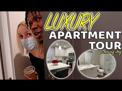 EMPTY APARTMENT TOUR AND MOVING VLOG (LUXURY APARTMENT)