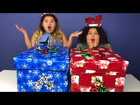 Don't Choose the Wrong Christmas Present Challenge! REAL PRESENTS!!