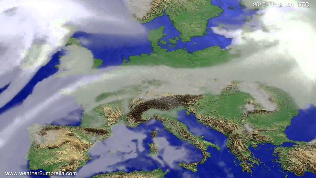 Cloud forecast Europe 2015-11-10