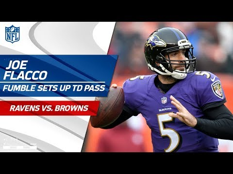 Video: C.J. Mosley's Forced Fumble Leads to Joe Flacco's TD Pass! | Ravens vs. Browns | NFL Wk 15