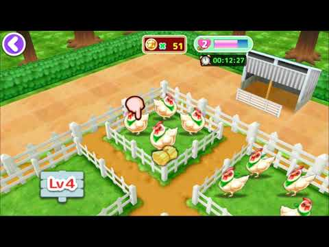 Harvesting In Ranch (Taking Care Chicken And Cow) - Cooking Mama