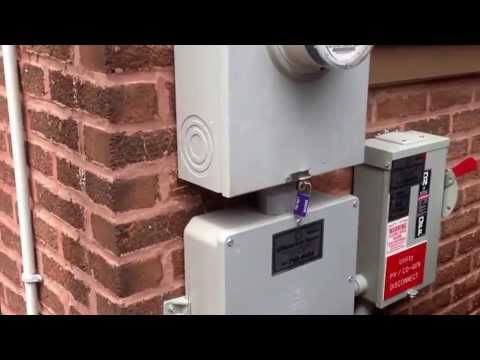 Solar Panel System in Residential Home