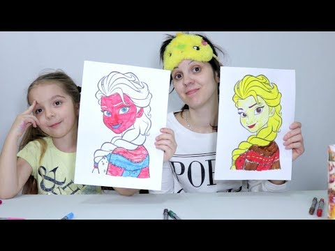 Video 3 MARKER CHALLENGE (COLORING ELSA AND MINIONS, UNICORNS) download in MP3, 3GP, MP4, WEBM, AVI, FLV January 2017
