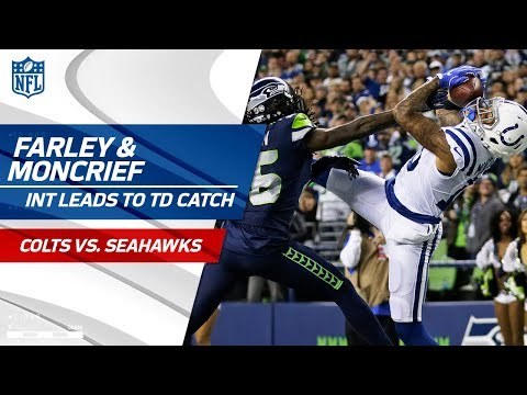 Video: Matthias Farley Tips INT to Himself & Donte Moncrief Leaps for TD! | Colts vs. Seahawks | NFL Wk 4