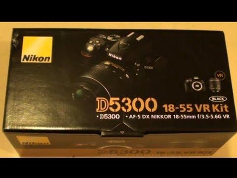 Unboxing the Nikon D5300 Camera