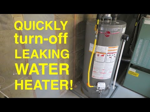 How To ● Quickly Turn Off a Leaking Water Heater