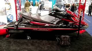 10. 2018 RED YAMAHA FX LIMITED SVHO SUPERCHARGED WAVERUNNER ON DISPLAY @ NEW YORK BOAT SHOW