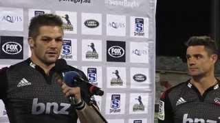 Post match  Moore, Alexander, McCaw and Carter | Super Rugby Video Highlights