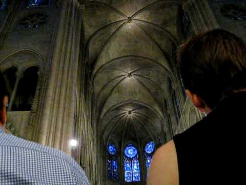 Gregorian Chants at the Notre Dame Cathedral, Paris, France