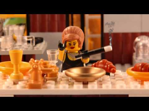 Familiar film scenes in Lego