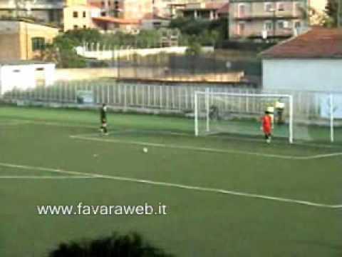 I rigore della partita di calcio FAVARA - GATTOPARDO