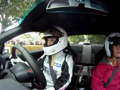 Rebecca Racer drives Toyota GT86 TRD up Goodwood Festival of Speed Hillrun 2012