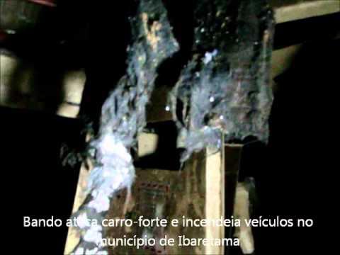 Bando ataca carro-forte e incendeia veículos no município de Ibaretama