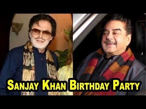 Shatrughan Sinha At Sanjay Khan Birthday Party