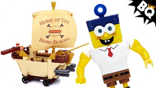 SpongeBob Sponge Out Of Water Burgermobile Showdown Mega Bloks Review