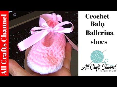 Baby Ballet Slippers - AllFreeCrochet.com - Free Crochet