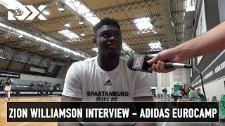 Zion Williamson Interview - Adidas Eurocamp