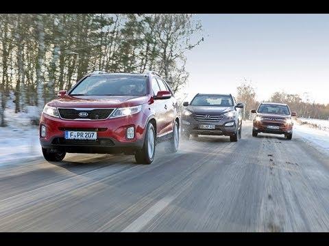 Kia Sorento, Hyundai Santa Fe, Mitsubishi Outlander – Asiaten im Voll-SUV