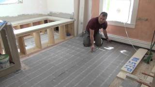 Remodeling A Bathroom Part 10 [Electric Radiant Floor Heat]