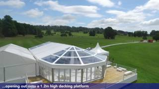 Longleat Wedding Marquee Installation by Danco Plc