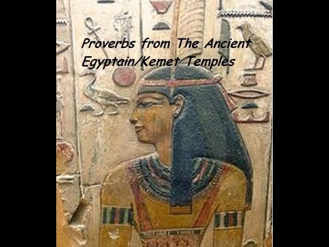 Proverbs from the ancient egyptain temples video with words