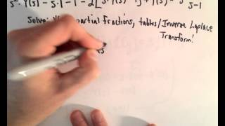 Laplace Transform to Solve a Differential Equation, Ex 1, Part 1/2