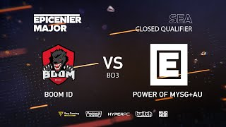 BOOM ID vs MYSG, EPICENTER Major 2019 SA Closed Quals , bo3, game 2 [Jam]