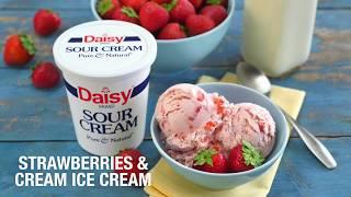 Strawberries and Cream Ice Cream