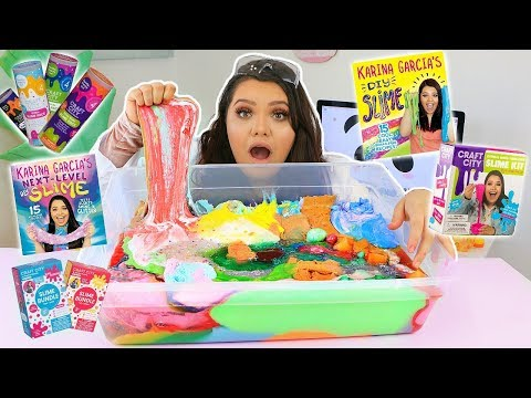 Mixing all my Karina Garcia Slimes (видео)