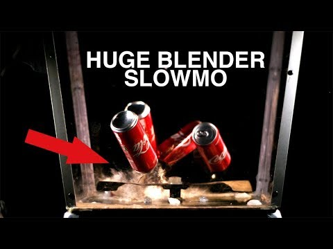 INSANE Mega Blender VS Coca Cola in Slow Motion - Cause I can