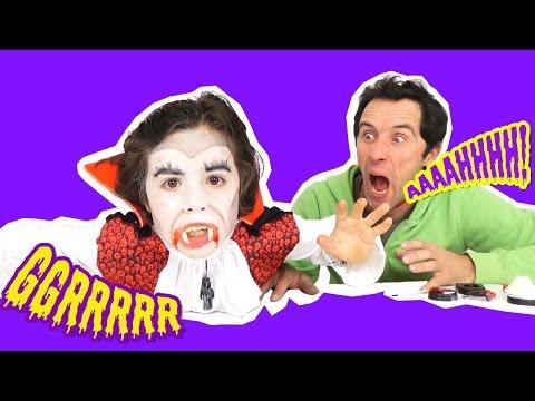 TUTO MAQUILLAGE HALLOWEEN - Comment se maquiller en VAMPIRE DRACULA?