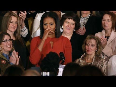 Michelle Obama's emotional final speech