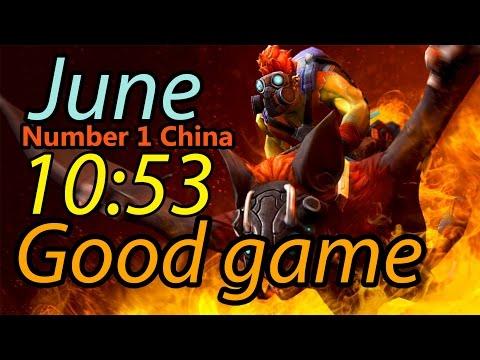 June number 1 China plays Batrider 10min53 Good Game